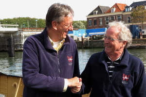 Henk en Ton na officiële afscheid van Henk