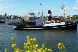 Varend op de Noord bij Papendrecht.